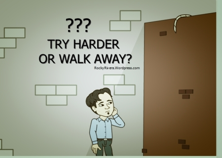 try hard or walk